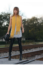 bare accessories scarf - forever 21 shirt - American Apparel pants - Wet Seal ja