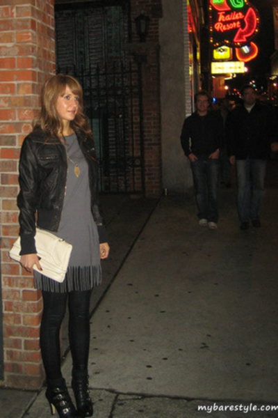 American Apparel dress - American Apparel pants - melie bianco purse - forever 2