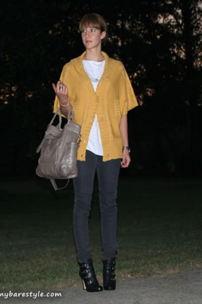 forever 21 sweater - melie bianco purse - Nine West shoes - American Apparel shi