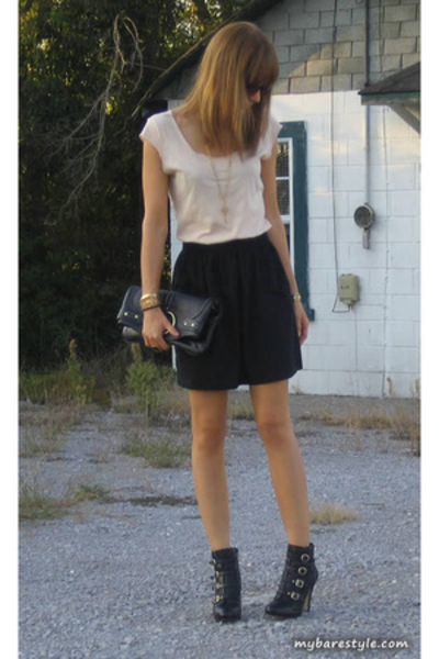 American Apparel shirt - American Apparel skirt - melie bianco purse - Nine West