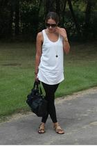 American Apparel leggings - forever 21 shirt - RVCA purse - Marshalls shoes - ba