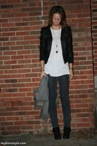 forever 21 jacket - Urban Outfitters shirt - bare accessories purse - forever 21
