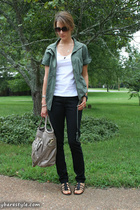 forever 21 jacket - American Apparel t-shirt - forever 21 jeans - melie bianco p