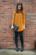 forever 21 sweater - melie bianco purse - American Apparel leggings - Nine West