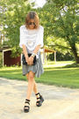 White-seventh-door-sweater-gray-express-dress-black-joes-jeans-shoes-silve