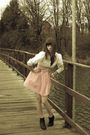 Black-zara-boots-white-vintage-from-ebay-blouse-pink-made-by-my-friend-dress