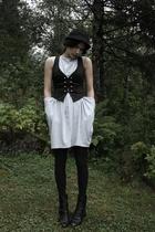H&M vest - Cubus dress - Bianco shoes - H&M hat