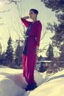 Black-jeffrey-campbell-shoes-blue-vintage-dress-black-cubus-belt-hot-pink-