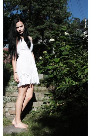 white Bik Bok dress