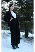 black sonia rykiel pour h&m suit - beige Divided blouse - black KappAhl blazer -