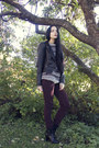 Maroon-h-m-jeans-black-dinsko-boots-black-leather-h-m-jacket