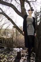 periwinkle knit DIY dress - black pump Nine West shoes - black random tights