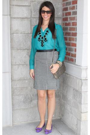 Forever21 skirt - Forever21 blouse - Jcrew necklace