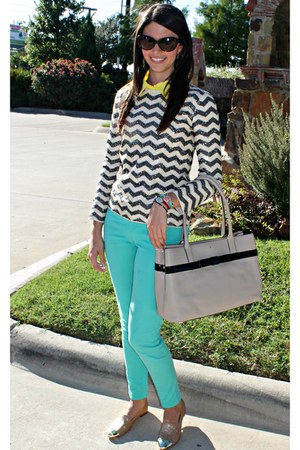 Forever21 pants - Jcrew sweater - kate spade bag