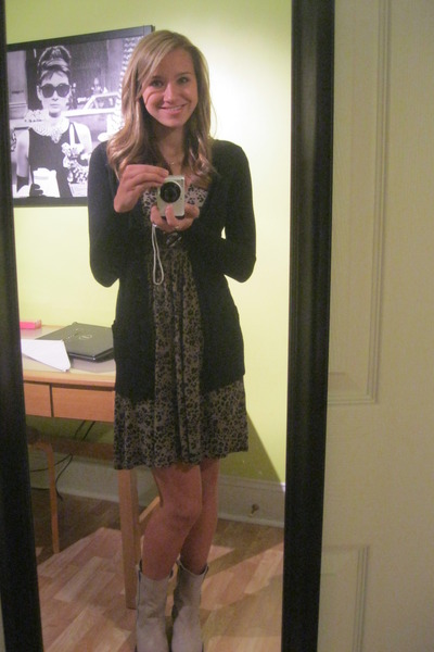 brown Nordstrom dress - white Steve Madden shoes - black Urban Outfitters sweate