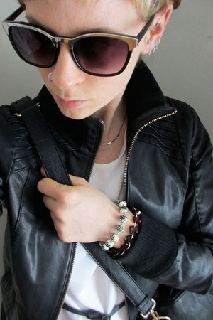 Bauble Box bracelet - leather danier jacket