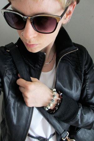 Bauble Box bracelet - leather danier jacket