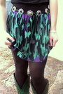 Green-forever-21-skirt-green-boots-black-shirt-black-tights-black-handma