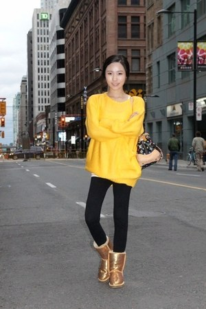 yellow big pocket bbabbi sweater - gold gold spangle Ugg boots
