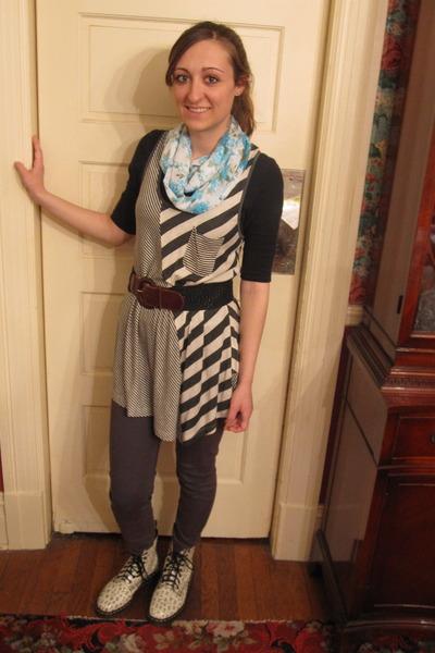 Doc Martins boots - joyce leslie shirt - joyce leslie scarf - thrifted belt - Ur