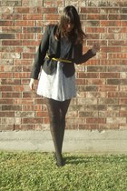 Charlotte Russe jacket - Forever 21 dress - thrifted necklace - thrifted shoes -