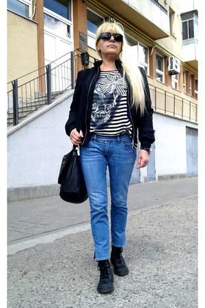 sky blue Diesel jeans