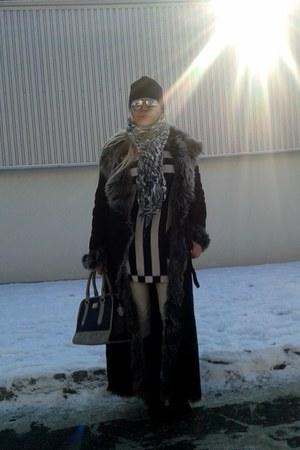 black leather coat Valentino coat