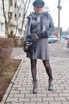 H&M boots - H&M dress - beadonna jacket - Gucci bag