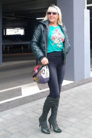 teal chic trf jacket TRF jacket