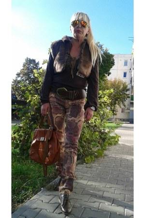 brown viscose dbleu blouse