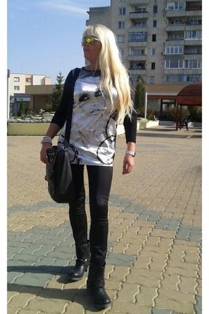 black polyester pescara blouse