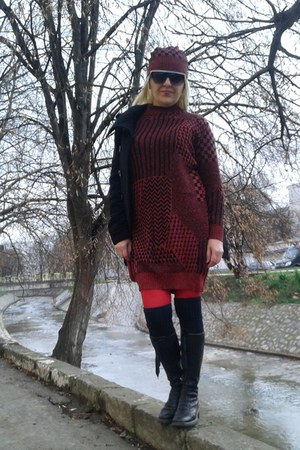 brick red Gossip dress