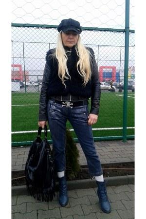 navy roberto cavalli jeans