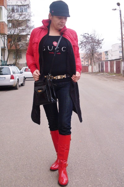Gucci boots - Gucci bag - Gucci blouse