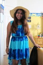 Blue-hi-low-dress-xxi-forever-dress-tan-ms-hat