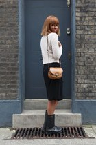 hm Ivory white jumper jumper - vintage rain boots boots