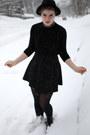 Black-turtleneck-american-apparel-dress-black-h-m-hat