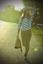 yellow Felmini shoes - meli melo hat - Zara pants - H&M blouse