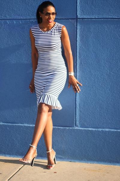 midi ruffle DIY dress - Alexander Wang heels