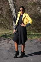 army green military london jacket - yellow cropped BCBG jacket