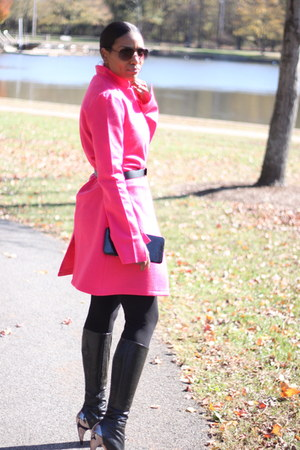 DIY coat - Report Signature boots - Jcrew leggings
