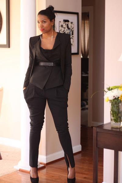 BCBG blazer - clutch DIY bag - platform Gucci heels