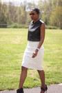 Leather-diy-top-diy-skirt-camilla-skovgaard-heels