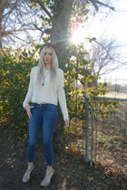 Wet Seal sweater - cropped elle jeans - platform Charlotte Russe heels