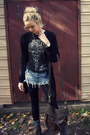 Black-darla-dr-martens-boots-black-fleece-lined-betsey-johnson-leggings