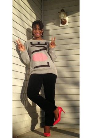 Forever 21 sweater - Loft pants - DSW heels