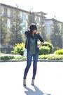 Bcbg-paris-shoes-frame-jeans-smythe-jacket-white-vintage-chanel-bag
