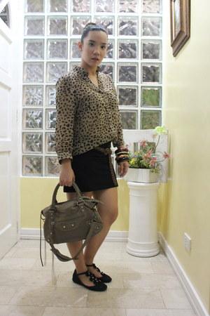 Zara top - balenciaga purse - Zara skirt - padini authentics belt
