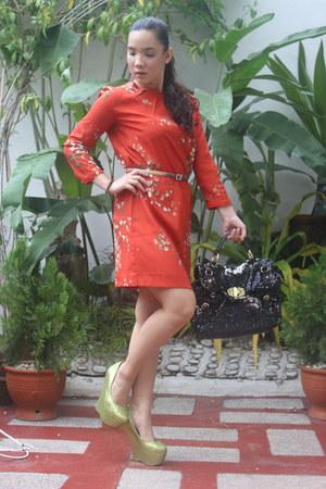 Mango dress - DAS shoes - Miu Miu purse - Salvatore Ferragamo belt