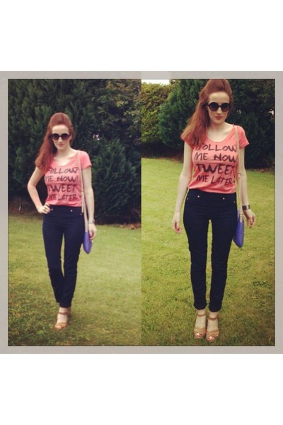 the Sting t-shirt - River Island jeans - Guess bag - Forever 21 sunglasses
